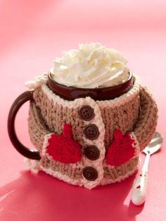 Hug Me Mug Cozy | Yarn | Free Knitting Patterns | Crochet Patterns | Yarnspirations More