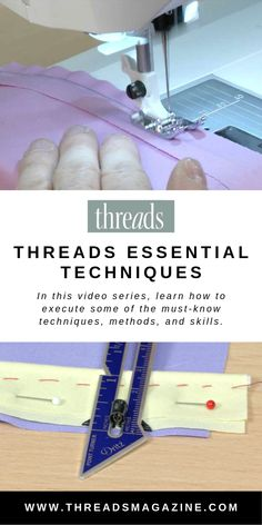Threads Essential Techniques - Threads Threads comes to life with Threads Essential Techniques. In this web-only video series, we show you how to execute some of the must-know techniques, methods, and skills seen in our print magazine. Sewing Projects For Beginners, Sewing Tutorials, Sewing Hacks, Sewing Tips, Dress Tutorials, Techniques Couture, Sewing Techniques, Fat Quarter Projects, Sewing Lessons