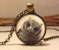 Hey, I found this really awesome Etsy listing at https://www.etsy.com/listing/176489319/owl-necklace-owl-art-pendant-jewelry-owl
