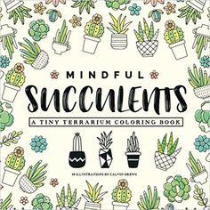Mindful Succulents Coloring Book A Tiny Terrarium Calvin Scott Drews 9781547294466