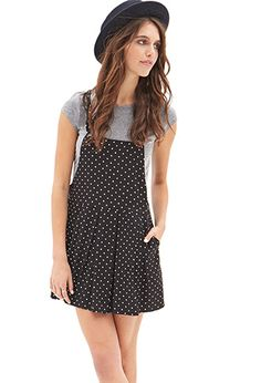 Polka Dot Overall Dress | FOREVER21 - 2000085046