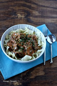 Beef Stroganoff: Make it for dinner tonight. Good idea for autumn day