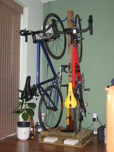 I have a couple of reasonably expensive bikes, so I don't want to keep them in the shed or garage. I also use them regularly, so want to be able to get at them easily.I used to keep them in the living room, behind the sofa. The problem with that is they take up too much room, and are easy to accidentally knock over.This is where the bike tree comes in. An easy (to make and use) bike stand that stores the bikes vertically to take up less room. Plus it's completely free standing - you don't…