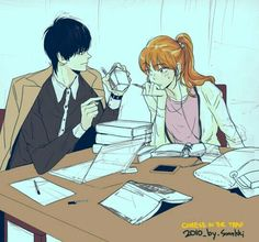 now this manwha turns in a real show. Cheese_in_the_Trap Cheese In The Trap Webtoon, Dramas, The Kingdom Of Magic, Cartoon Fan, Couple Illustration, Webtoon Comics, Journey, Couple Art, Anime Couples
