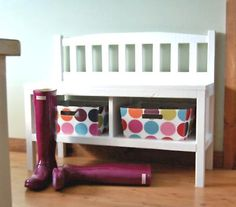 Oh, Ana White! How I love the furniture you build! This bench is cute and practical!