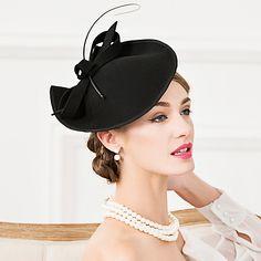 Wool Feather Fascinators Hats Headpiece 2018 - $36.03