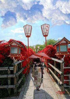 Nagaoka Tenman-gu Shrine, Santuario Sintoista en Nagaoka, Japón me enamora