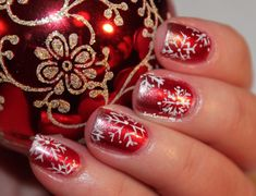 You may see the color shift on your nail art and they're pigmented. Nail polishing is now an actual art. Snowflake nail art actually is a staple when we discuss holiday nail designs. Nail Art Designs, Holiday Nail Designs, Nails Design, Xmas Nails, Holiday Nails, Winter Nail Art, Winter Nails, Love Nails, Pretty Nails