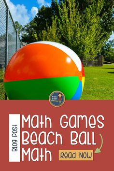 Create a math game in minutes with a beach ball, permanent marker, and some math problems. Your students will love math again! 7th Grade Classroom, 8th Grade Math, Special Education Classroom, Sixth Grade, Teaching Decimals, Teaching Math, Teaching Tools, Maths, Math Math