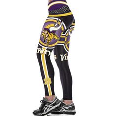 cf259915be227 Minnesota Vikings 3D Print YOGA Gym Sports Leggings High Waist Fitness Pant  Workout Trousers