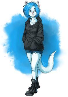 Výsledek obrázku pro blue cat fursona