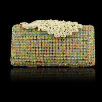 a luxury diamond with peacock hasp evening bag. it is a good partner of you when you will go to a party .hmmm...