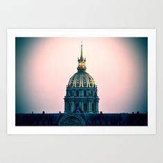 PARIS monument Art Print by WAMTEES - $17.68