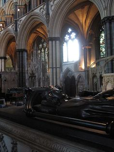 """The tomb of Eleanor of Castille (1241-28 Nov 1290) at Westminster Abbey.  Married to Edward I """"Longshanks,"""" who was said to love her very much."""