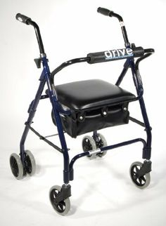 "Drive Medical 510 MIMI Lite Winner Walker Aluminum Rollator with Push Brake - Blue/Grey by Drive Medical. $124.42. Comes with standard carry pouch.. Optional basket available - Item #805. Easy folding for transportation.. Adjustable height handle.. Push down locks.. The Winnie Mimi Lite Rollator by Drive Medical comes in an attractive dark blue finish. This aluminum rollator comes standard with 6"" caster wheels with soft grip tires for indoor and outdoor use, ensuring ..."