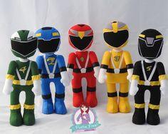Power Rangers RPM feltro por Pontos Finos