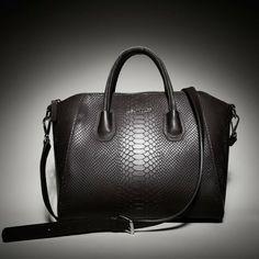 .Leowulff | Large black snake tote bag with gold hardware