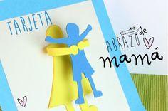 Tarjeta abrazo para el Dia de la Madre