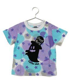 b-room (ビールーム)のムラ染め半袖Tシャツ(Tシャツ・カットソー)|パープル