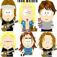 Best Heavy Metal Bands, Heavy Metal Rock, Iron Maiden Posters, Types Of Genre, Trey Parker, Matt Stone, Bruce Dickinson, Rock And Roll Bands, Rockn Roll