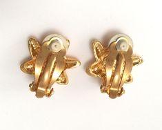 Authentic Vintage CHRISTIAN LACROIX CL Logo Little Star Clip On Earrings