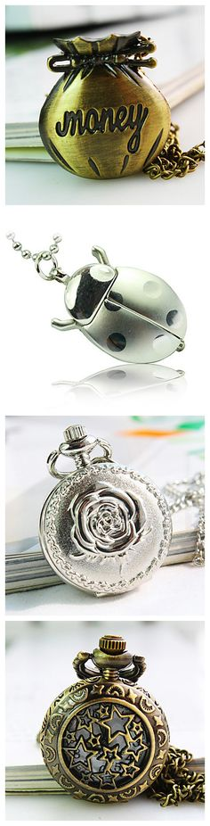 Nice pocket watches. They could also become decorations if you want. Check it out!
