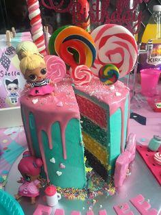 Doll Birthday Cake, Funny Birthday Cakes, Unicorn Birthday Parties, Birthday Fun, Birthday Party Decorations, Surprise Birthday, Birthday Ideas, Lol Doll Cake, Surprise Cake