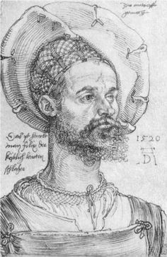Portrait of Captain Felix Hungersperg  - Albrecht Durer