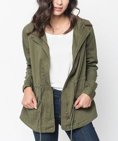 Another great find on #zulily! Caralase Olive Utility Jacket by Caralase #zulilyfinds