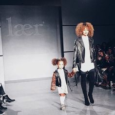 Mommy and daughter on the runway