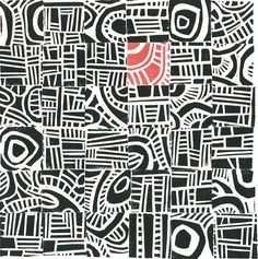 Do as infinity pattern with one block of colour change - LC LINOCUT PRINT - Hundertwasser Mini Mid Century Modern Print, inspires. Collaborative print, own stamp in red Elements And Principles, Elements Of Art, Linoleum Block Printing, Ecole Art, Inspiration Art, Sketchbook Inspiration, Middle School Art, Art School, Art Graphique