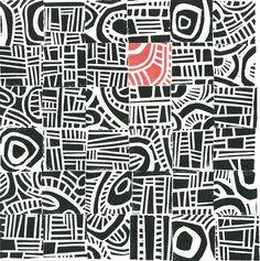 LINOCUT PRINT - Hundertwasser Mini Mid Century Modern Print