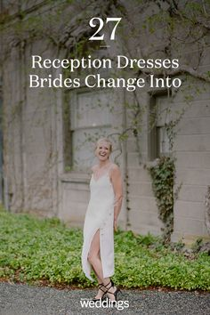 21 Reception Dresses Brides Changed Into for Their Parties Bride Reception Dresses, Second Wedding Dresses, Wedding Dress Chiffon, Second Weddings, Wedding Songs, Wedding Bride, Wedding Table, Wedding Reception, Wedding Flowers