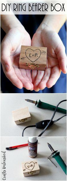 DIY Ring Bearer Box: Wood Burned Keepsake - Consumer Crafts