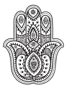mandala hand fatma coloring pages printable and coloring book to print for free. Find more coloring pages online for kids and adults of mandala hand fatma coloring pages to print. Mandala Art, Mandalas Painting, Mandalas Drawing, Hamsa Drawing, Mandala Symbols, Yoga Symbols, Chakra Symbols, Zentangles, Mandala Coloring