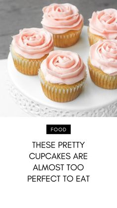 I love cupcakes. Seriously, they are my addiction and I want them always. If you are like me, you also want ones that are pretty. Oven Roasted Chicken, Pretty Cupcakes, Tasty, Yummy Food, Baby Shower Cupcakes, Allrecipes, Cravings, Birthday Ideas, Addiction