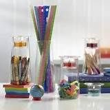 ... teachers gift! #rainbow #crayons #candles #centerpiece #decorations