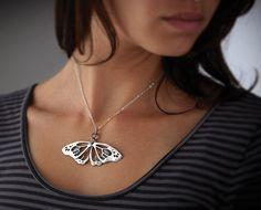 butterfly wing pendant, artigiano resting monarch
