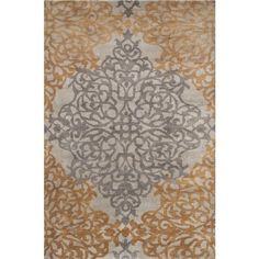 Caspian Hand-Knotted Gray/Brown Area Rug