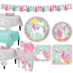 Magical Unicorn Tableware Party Kit for 16 Guests Image 1