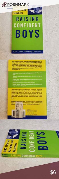 "100 Tips for Parents and Teachers - Book ""Raising Confident Boys"" by Elizabeth Hartley-Brewer. Teacher Books, Boy Face, Low Self Esteem, Raising, Confidence, The 100, Parents, Teaching, Boys"