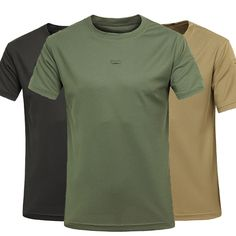 Sale 27% (22.47$) - Mens Breathable Quick Dry Outdoor T-shirts Casual Round Collar Short Sleeved T-shirt