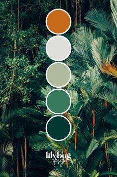 Bedroom Colour Palette, Design Palette, Green Colour Palette, Color Schemes Colour Palettes, Room Color Schemes, Wall Colors, Colours, Estilo Tropical, Forest Green Color