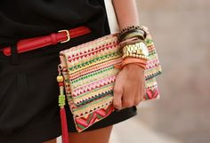 Perfect summer clutch.