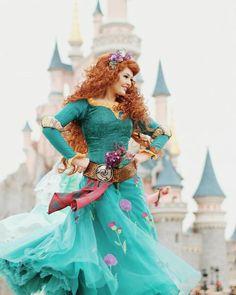 Merida Cosplay, Disney Cosplay, Disney Costumes, Cosplay Costumes, Disneyland Paris, Disneyland Princess, Disney Girls, Disney Love, Disney Magic