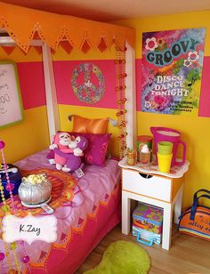 1000 images about american girl julie 39 s bedroom doll dollhouse on pinterest egg chair - American girl bedroom ideas ...