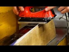 How To Hot (Glide) Wax X-C (Cross Country) Skis - YouTube