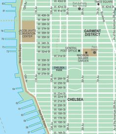 chelsea and the garment district map click on the map for an ad free printable version