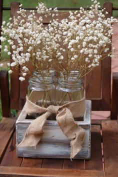 #white #whiteflowers #masonjars