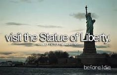 Visit The Statue Of Liberty. #New York City # Bucket List # Before I Die